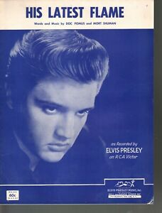 His Latest Flame 1961 Elvis Presley Sheet Music
