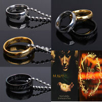 Lord of the Rings The One Ring Lotr Stainless Steel Aragorn Ring&Chain Necklace