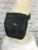 """Taurus Collection Black Fanny Pack Side Bag With Adjustable Waist Strap 9"""" X 8"""""""