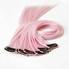 10Pcs 20 Clip in Synthetic Hair Extensions Straight Colored Highlight Light P