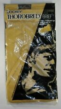 Vintage Nos Jockey Thorobred Square Rig Brief Cotton 1970's Mens Size 34 Yellow