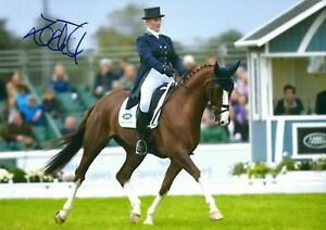 12x8 Inch 30x20cm HAND SIGNED PHOTO ZARA PHILLIPS EQUESTRIAN SHOW JUMPING