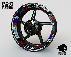 """Wheel Stickers for BMW S1000RR Rim Tape Motorcycle Decals Graphics 17"""""""