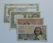 Lot 4 billets FRANCE
