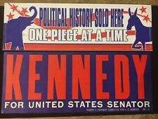 KENNEDY (ROBERT) FOR UNITED STATES SENATOR 4x10 BUMPER STICKER
