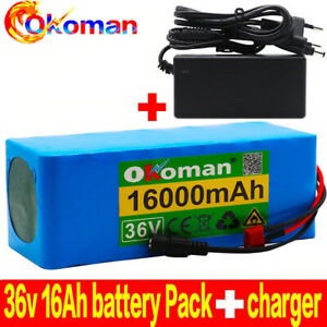 36V 16AH Electric Bike Battery Built in 20A BMS Lithium Battery Pack 36 Volt wit