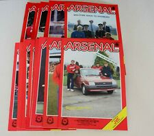 More details for arsenal home programmes complete set 1985/86 (x26) (d1/fac/lc) – all mint or exc
