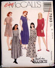 7893 McCall's Sewing Pattern for Misses Dress Dresses two lengths NEW