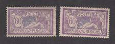 France - Timbres Neufs - Merson N°144 ** Variété papier fin + papier normal - TB