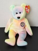 NWT TY Beanie Baby Retired 1999 Tie Dyed B.B Birthday Bear MWMT