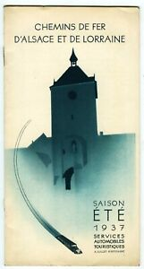 Chemins Iron D'Alsace And Lorraine, Al, Timetable And Tariff Summer Service 1937