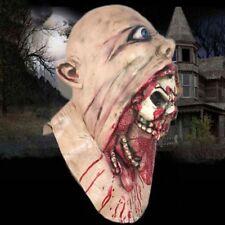 Halloween Bloody Zombie Masken schmelzen Gesicht Latex Kostüm Walking Dead Neu