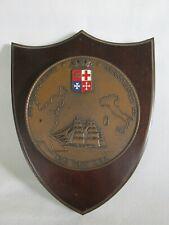 Vintage A.N.M.I. Plaque, Association of Italian Sailors, Maritime, Seafaring