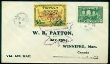 CANADA CL43 1928 (10¢) PATRICIA AIRWAYS LTD TIED FLIGHT COVER TO SIOUX LOOKOUT