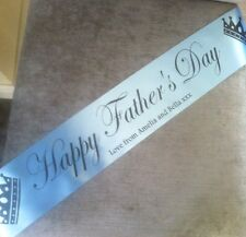 Personalised Fathers Day Banner Happy Father's Day