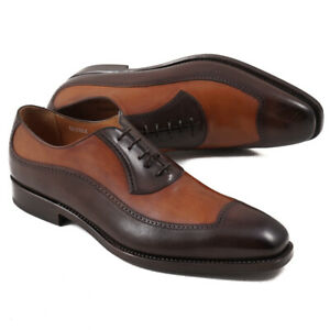 NIB $1095 FRANCESCHETTI Limited-Edition Balmoral in Contrasting Brown 12 Shoes