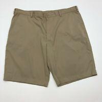 Nike Golf Shorts Mens 40 Tan Flat Front Dri-Fit Stretch Sports Athletic Shorts