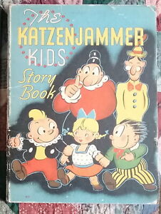 KATZENJAMMERS KIDS STORY BOOK COMIC CHARACTER WHITMAN CHILD'S BOOK 1937 WHITMAN