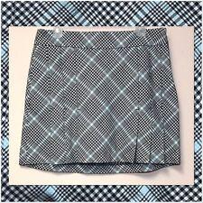 IZOD XFG Black, Green Classic Plaid Pleated Tennis or Golf Skirt Skort Size 8