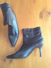 ladies brown ankle boots Heels size 8.5 By Fiorelli