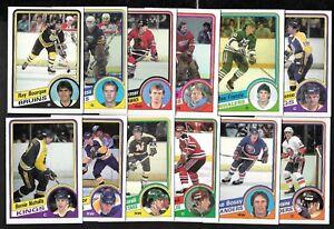1984-85 OPC 84-85 O PEE CHEE NHL HOCKEY CARD 1-132 SEE LIST