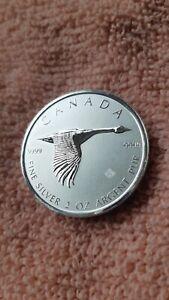 2020 2 OZ .9999 SILVER CANADA GOOSE MAPLE SILVER BULLION COIN ROYAL CANADIAN MNT