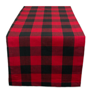 DII Cotton Buffalo Check Table Runner for Family Dinners or CAMZ36217
