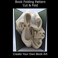 Book Folding Pattern - Combi Cut & Fold - Mr & Mrs 5cf - Marriage - Wedding