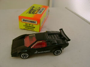 1996 MATCHBOX SUPERFAST #67 BLACK LAMBORGHINI COUNTACH LP 5000S NEW IN BOX