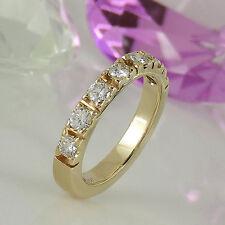 Ringe mit natürlichem aus Gelbgold für den Jahrestag