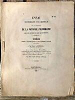 ESSAI HISTORIQUE ET CRITIQUE SUR LA CONNAISSANCE DE LA PHTISIE PULMONAIRE - 1851