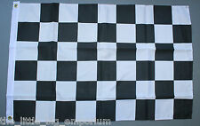 Checkered Finish Line Flag New Black White Chequered Motor Racing