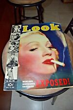 VINTAGE MAGAZINE LOOK 1938 JULY MARLENE DIETRICH'S TROUBLES G-MEN