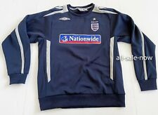 Umbro Men's Size L Blue Vintage Nationwide England Football Soccer Nationwide