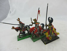 Warhammer Bretonnia Knights Questing ? metal rider army lot oop painted
