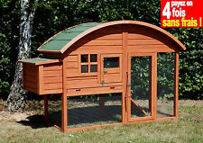 Poulailler louisiane en bois 2 a 3 poules trade ou 4 a 5 poules naines AS2679