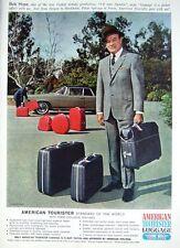 Rare 1966 Bob Hope 'AMERICAN TOURISTER' Luggage Advert - Vintage Photo Print AD