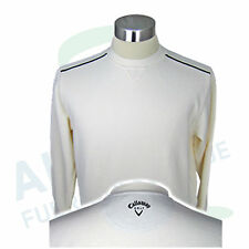 Callaway Golf Jumper Easy-Care Cotton Blended Fabric Cream White Size M (48/50)