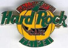 Hard Rock Cafe TAIPEI 1996 HALLOWEEN PIN Smiling PUMPKIN HRC Logo Catalog #9631