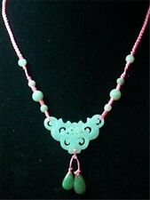 Top Grade Big Adjustable Beaded Chain Delicate Carved Jade Ruyi Flower Necklace