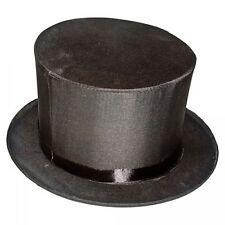 Adult Black Folding Collapsible Top Hat Magic Magician Performer Trick Cap