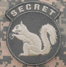 TOP SECRET SQUIRREL BLACK OPS ARMY BADGE ACU LIGHT VELCRO® BRAND FASTENER PATCH