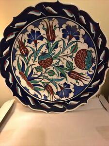 Large Handmade & Hand Painted Turkish Plate