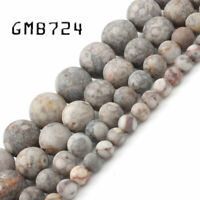 4/6/8/10mm Matte Maifan Stone Beads DIY Beads for Jewellery Making diy 15''