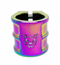 Team Dogz Rainbow Oversized Double Kids Pro Stunt Scooter Clamp For 35mm Bars