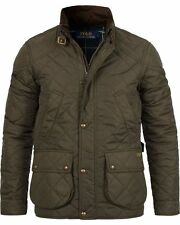Polo Ralph Lauren Men's Litchfield Cadwell Quilted Bomber Hunting Jacket Olive XL