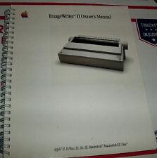 1985 Apple ImageWriter II Printer Manual 1984 Macintosh 128k 512K II II+ IIe IIc