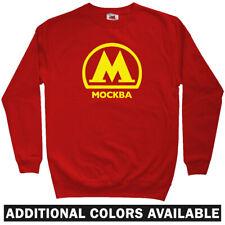 Moscow Metro Sweatshirt - Russia Subway Rail Mockba Logo RUS Crewneck  Men S-3XL