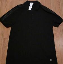Mens Authentic Versace Collection Shoulder Panel Polo Shirt Black 54 XL $225