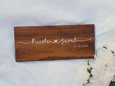Personalised Wedding Gift, Couple Name Sign, Custom Wood Name Sign, Wedding Gift